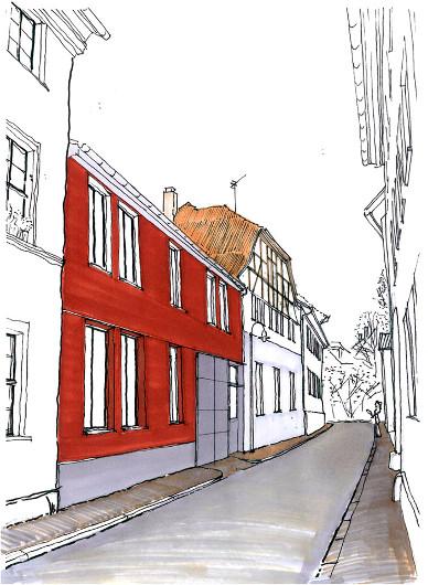 Hauptfassade Hauptfassade Von Süd Foto Löbersgasse Skizze Löbersgasse ...